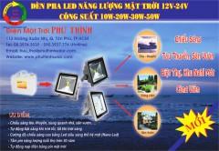 Đèn pha LED năng lượng mặt trời 12V – 24V